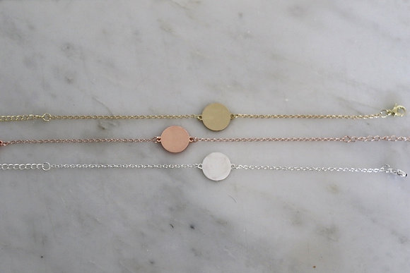 Bracelet médaille ronde