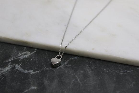 Collier cadenas coeur