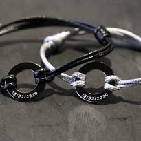 Bracelet anneau cordon