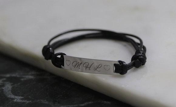 Bracelet gourmette cordon
