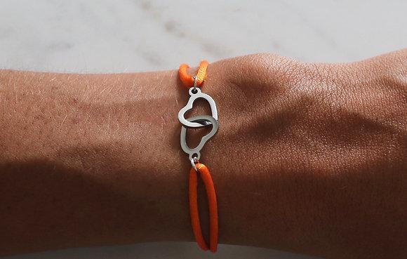Bracelet Menottes Coeur cordon
