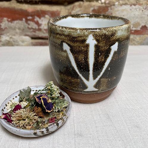 Alchemy Silver Symbol with Birch Glaze
