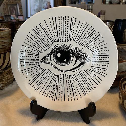 Eye Awakening Large Plate