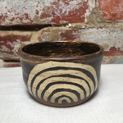 Fingerprint Medium on Chestnut Glaze
