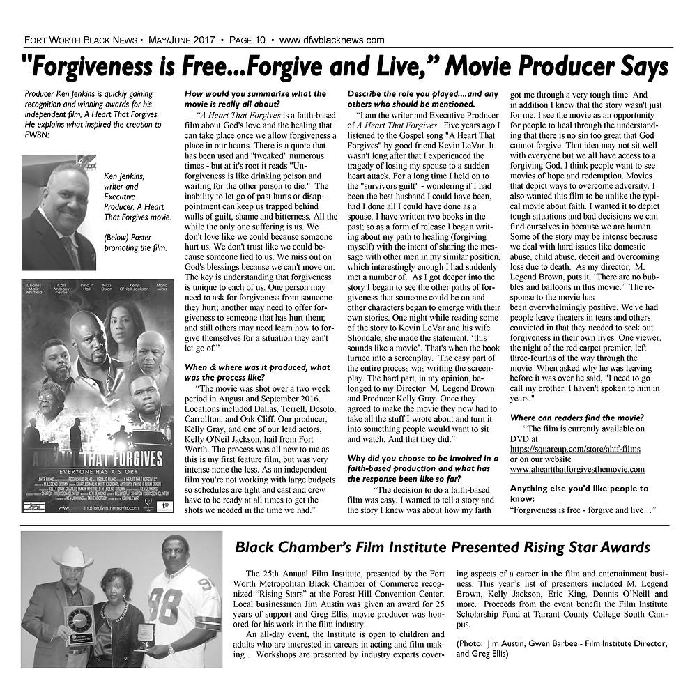 Fort Worth Black News. Ken Jenkins