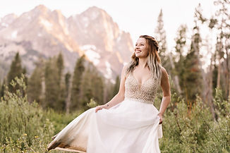 Sawtooth Mountain Range Elopement Idaho-