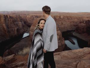 Engagement Photos at Horseshoe Bend & Lake Powell in Page, Arizona