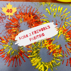 #40. Make a Fireworks Painting