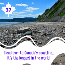 #37. Check out our Canadian Coastline