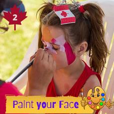 #2.  Paint your face!