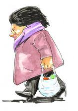 Bearwood Lady walking with shopping