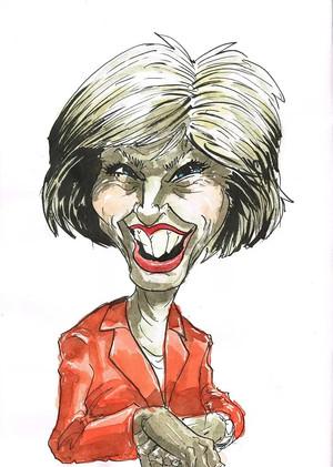 Teresa May is Happy