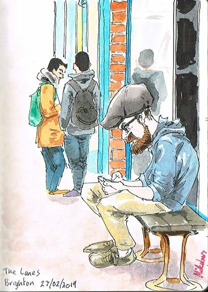 Brighton Hipster - Brighton Illustrator
