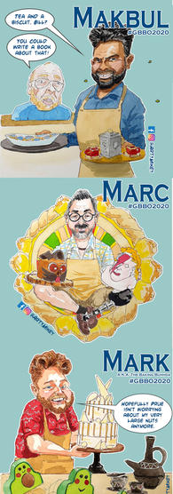GBBO Portrait collection 4