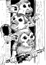 Squirrel Monkeys Ghostbusters