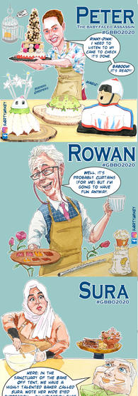 GBBO Portrait collection 3