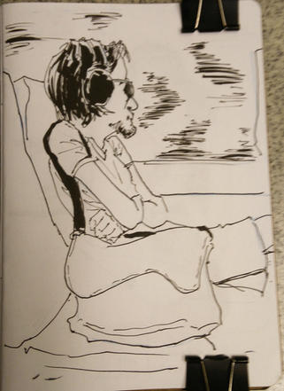 PeopleSketching - Man on a train