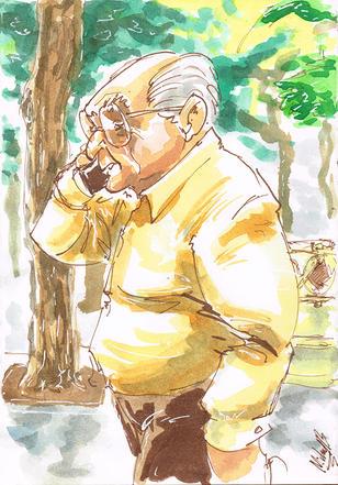 Man from Cadiz Spain Illustration ArtyMikey