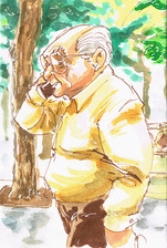 man on phone cadiz