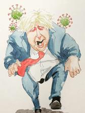 Boris Johnson with the Coronavirus