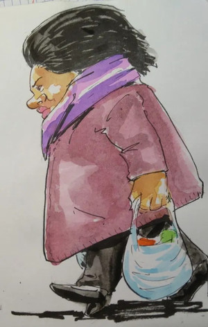 Lady from Bearwood shopping