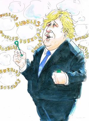 Boris Johnson and Social Bubbles, Bubbles, Bubbles