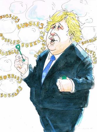 Boris Johnson social bubbles bubbles bubbles