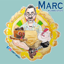Marc The Great British Bake Off 2020 ArtyMikey