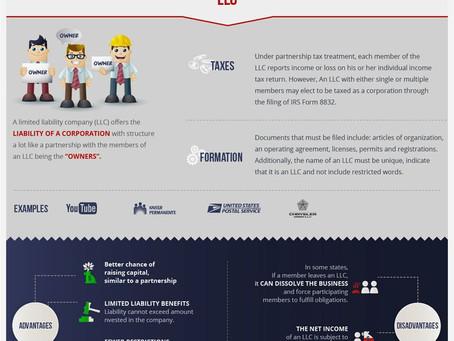Differences of U.S. Legal Business Forms (инфограмма с переводом)