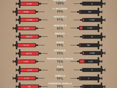 How Vaccines Have Changed Our World (in the USA) (инфографика с переводом)