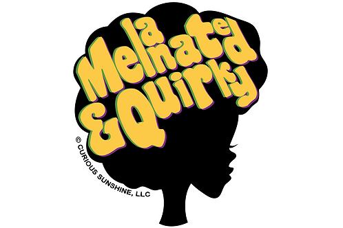 Melanated and Quirky Vinyl Stickers