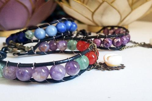 Reiki-Charged Stone Bracelets