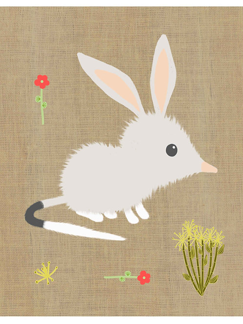 Bilby on hessian background