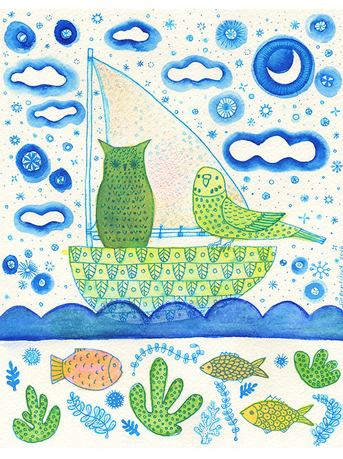 The Owl and the Budgerigar