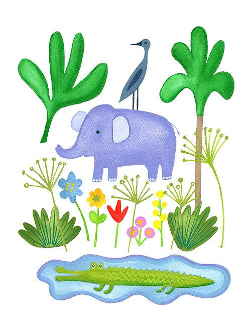Elephant and Crocodile