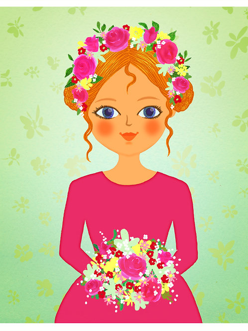 Girl with a flower Posy