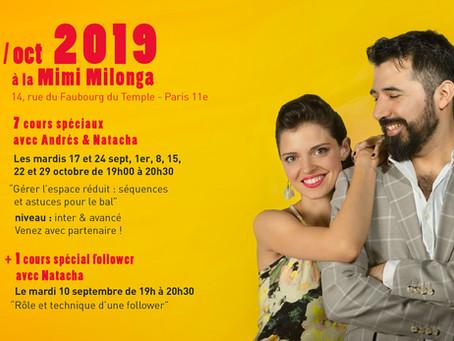 Cours spéciaux Andrés et Natacha à la Mimi Milonga