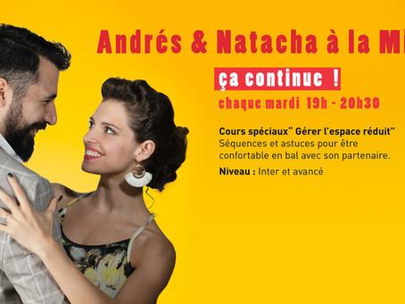 Cours Andrés et Natacha à la Mimi : ça continue !
