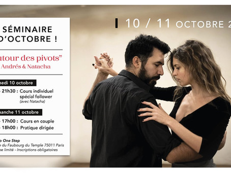 """Séminaire d'octobre : """"Autour des Pivots"""" - Andrés et Natacha"""
