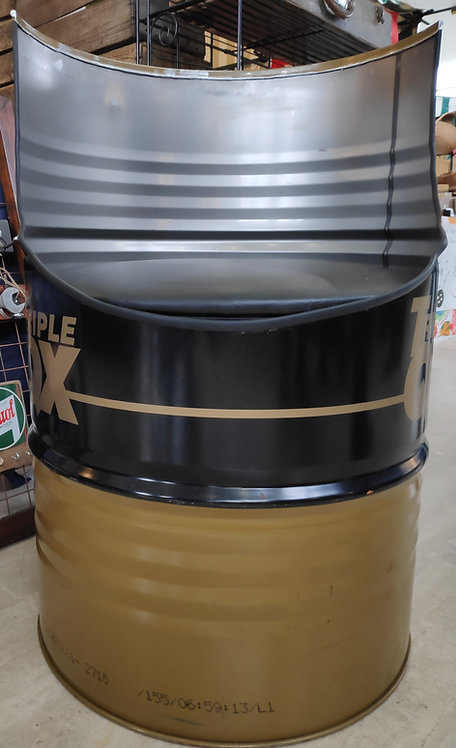 Reclaimed oil barrel seat