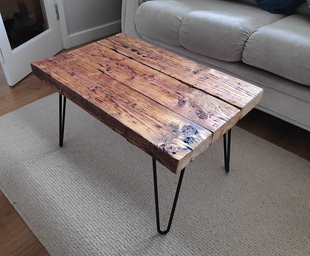 Reclaimed Oak Sleeper Coffee Table