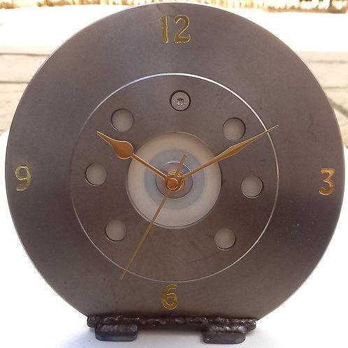 Brake disc desk clock white