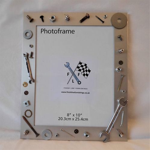 Mechanical odds and ends collage picture frame