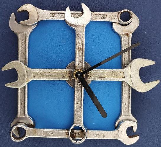 Spanner Wall Clock - Blue