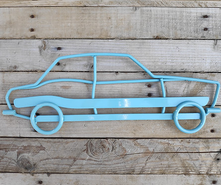 Steel wall art Escort Mk1 in Duck egg blue gloss