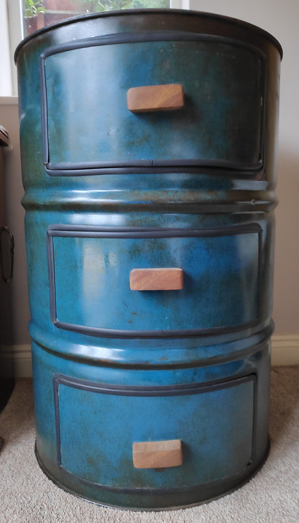Oil barrel chest of drawers - Reclaimed industrial furniture