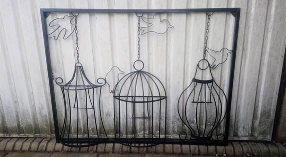 Steel Wall Art Bird Cages