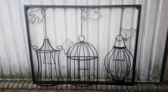 Steel Wall Art Bird Cages