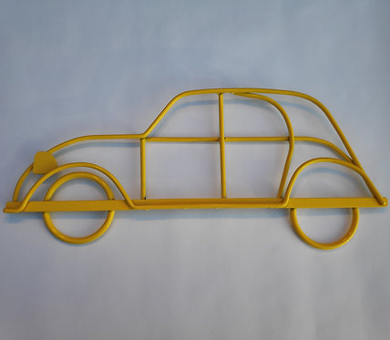 Handmade steel wall art Citroen 2CV in Yellow gloss