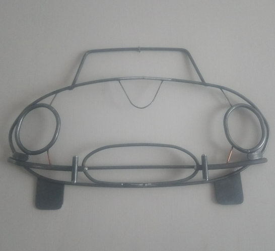 Handmade Jaguar E-Type Series 1 steel wall art